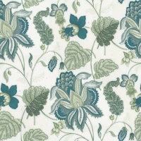 jacobean blossom blue/cream